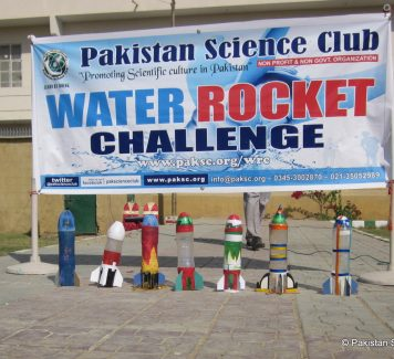 Pakistan Science Club Organizes Water Rocket Challenge
